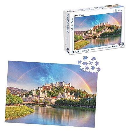 Quebra-Cabeça Puzzle Toia 500 peças Rio Salzach Salzburgo Áustria