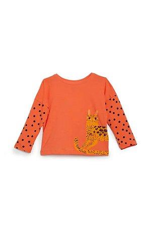 Camiseta Infantil Fabula Laranja Onça - 9480