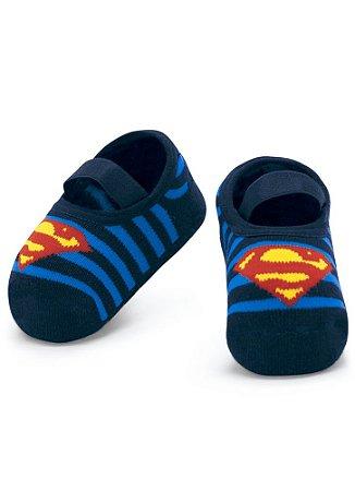 Meia Sapatilha Puket Antiderrapante Superman