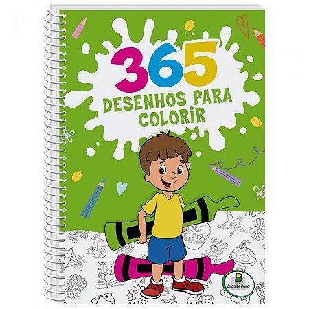 Livro Espiral 365 Desenhos para colorir