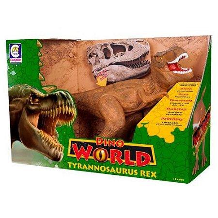 Dinossauro Tyrannosaurus Rex Dino World - Cotiplás - Giramundo Girassol