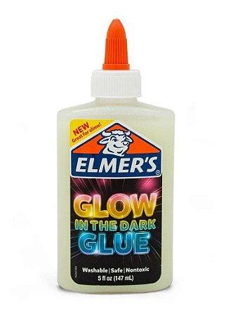 Cola para Slime Branca com Glitter Brilha no Escuro 147ml - Elmer's