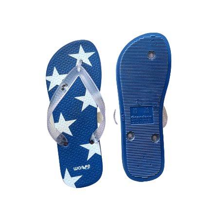 Chinelo Infantil Wave Estrelas Azul