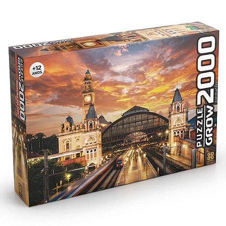 Quebra-Cabeça Puzzle Grow 2000 peças Estação da Luz