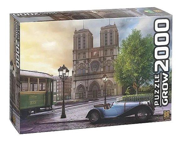 Quebra-Cabeça Puzzle Grow 2000 peças Catedral Notre-Dame