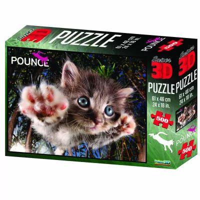 Quebra Cabeça Super 3D Puzzle Gato Multikids 500 Peças