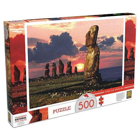Quebra-Cabeça Puzzle Grow 500 peças Ilha de Páscoa