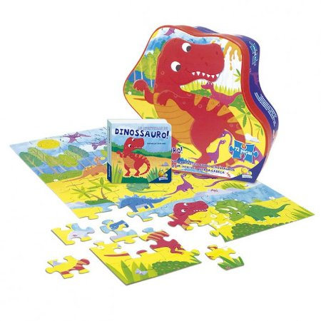 Livro Aventuras do Mundo Quebra-cabeça II: As Aventuras do Dino
