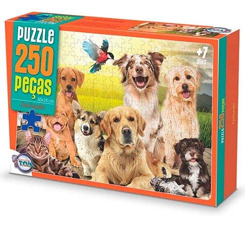Quebra-Cabeças Puzzle Toia 250 peças Cachorros Fofos