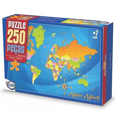 Quebra-Cabeças Puzzle Toia 250 peças Mapa Mundi