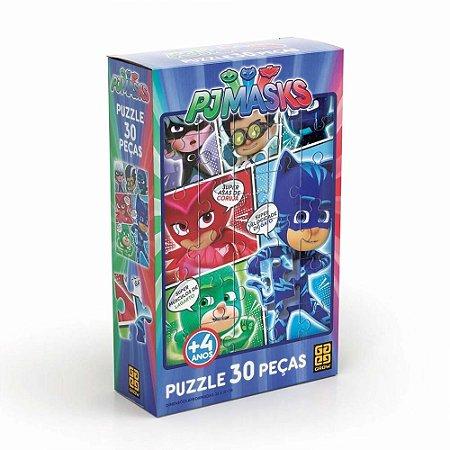 Quebra-Cabeça Puzzle Grow 30 Peças PJ Masks