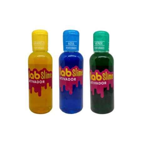 Kit Ativador Lab Slime - Amarelo - Azul - Verde