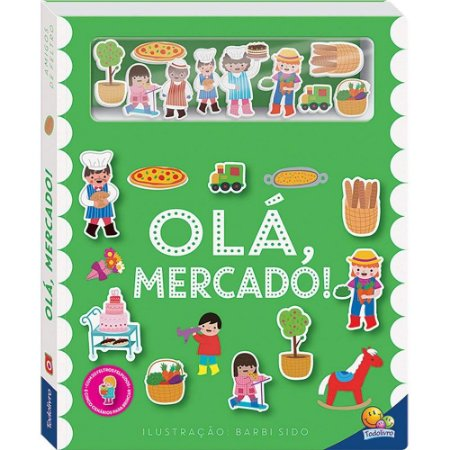 Livro Interativos Amigos de Feltro: Olá, Mercado!