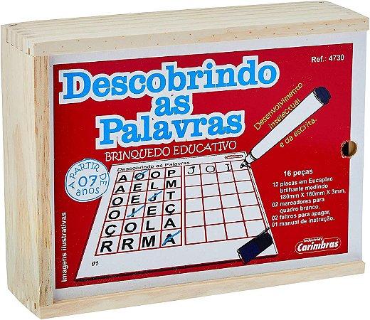 Descobrindo as Palavras 16 peças em Madeira Carimbras
