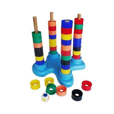 Jogando com as Cores Carimbras - Brinquedo Educativo em Madeira