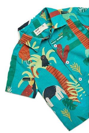 Camisa Bento Festa Na Floresta Verde