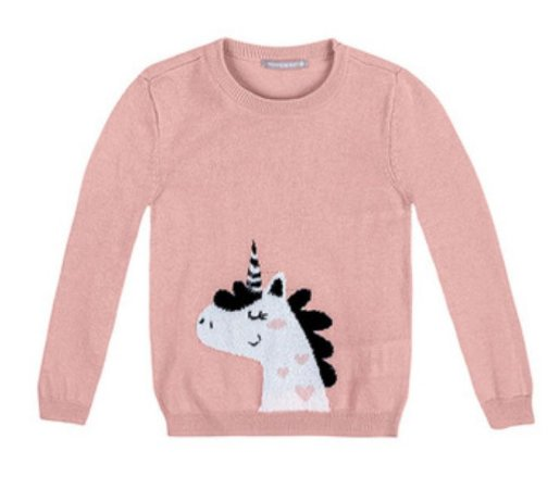 Blusa Hering Tricot Pinguim Rosa