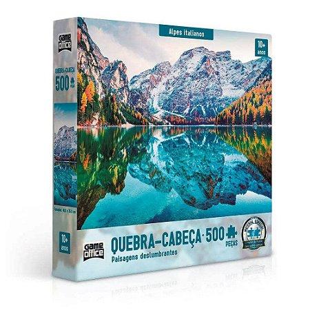 Quebra-Cabeça Puzzle Game Office 500 Peças Paisagens deslumbrantes: Alpes Italianos