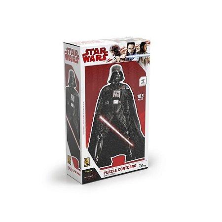 Quebra-Cabeça Puzzle Grow 183 peças Star Wars Contorno Darth Vader