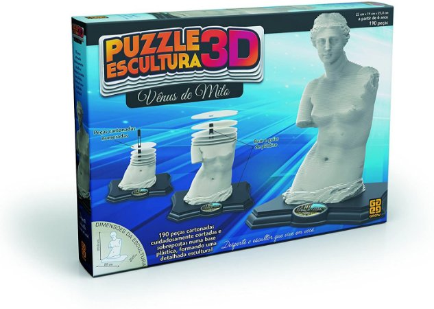 Quebra-Cabeça Puzzle Grow Escultura 3D Vênus de Milo