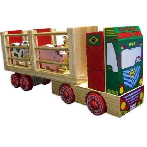 Caminhão Fazendinha em Madeira Carimbras