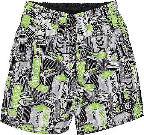 Shorts Youccie tactel Prédios Estampado