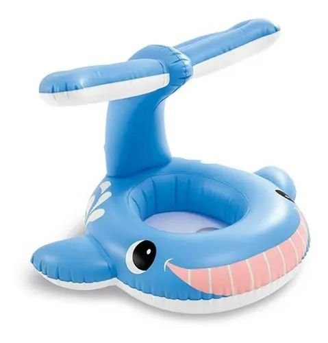 Boia Bote Inflável Infantil para Piscina Baleia Jolly Intex - 56591