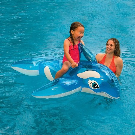 Boia Bote Inflável Infantil para Piscina Baleia Transparente Intex - 58523
