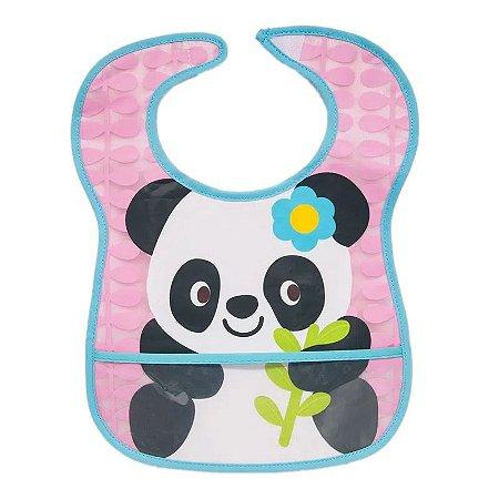 Babador Com Bolso Panda Rosa - Buba