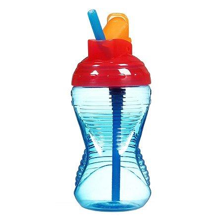 Copo Infantil com Canudo Munchkin Azul
