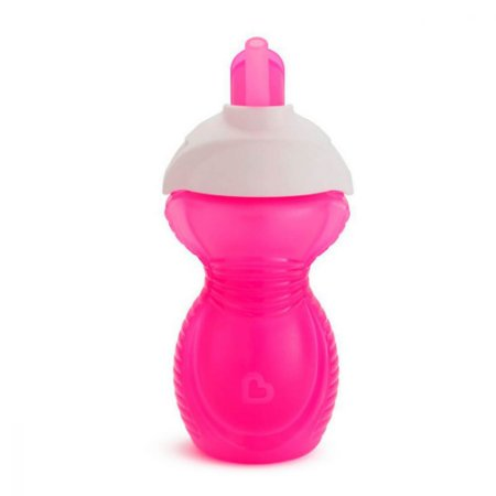 Copo Infantil com Canudo Click Lock Munchkin Rosa