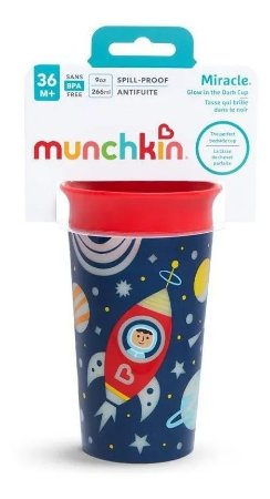 Copo Infantil 360 Glow Munchkin Vermelho/ Azul Marinho