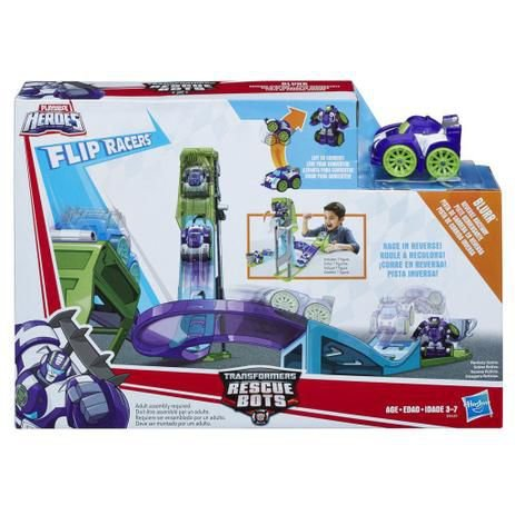 Transformers Rescue Bots Pista de Corrida Inversa