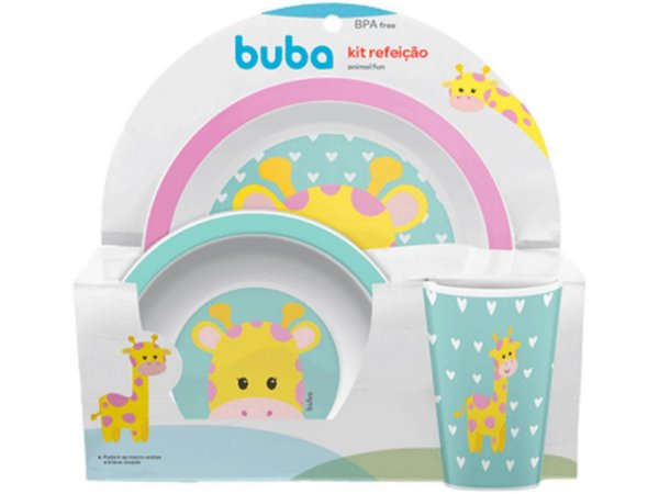 Kit Refeição Buba Animal Fun Girafa