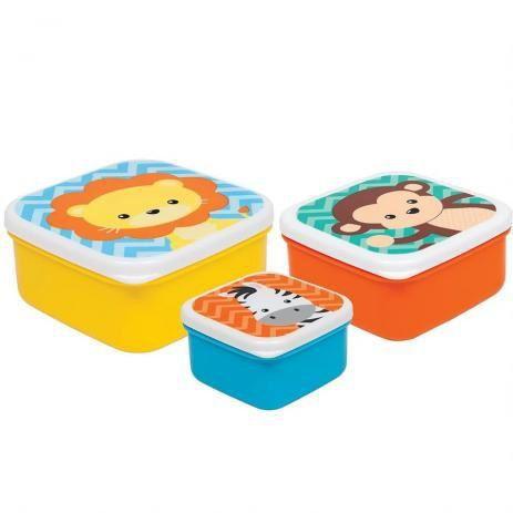 Kit 3 Potinhos Buba Animal Fun Colorido