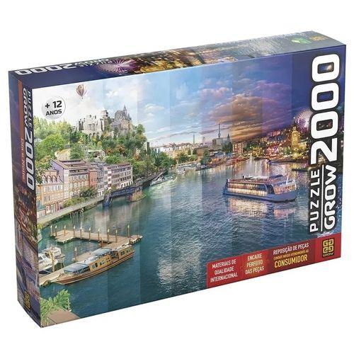 Quebra-Cabeça Puzzle Grow 1000 peças Dia e Noite