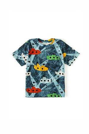 Camiseta Infantil Bento Submarino Azul