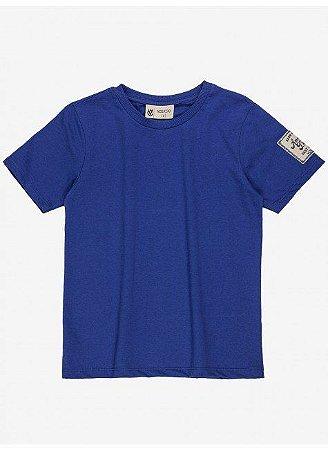 Camiseta Infantil Youccie Básica Azul Royal