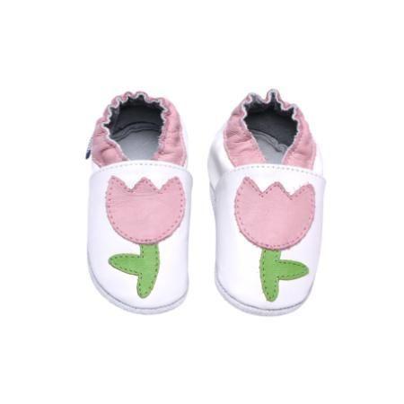 Sapatinho Infantil Babu Uabu Pantufa Tulipa - Branco