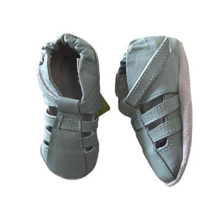 Sapatinho Infantil Babu Uabu Pantufa Sandália Tiras - Light Blue