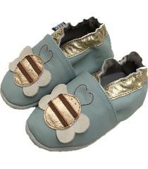 Sapatinho Infantil Babu Uabu Pantufa Abelha - Light Blue
