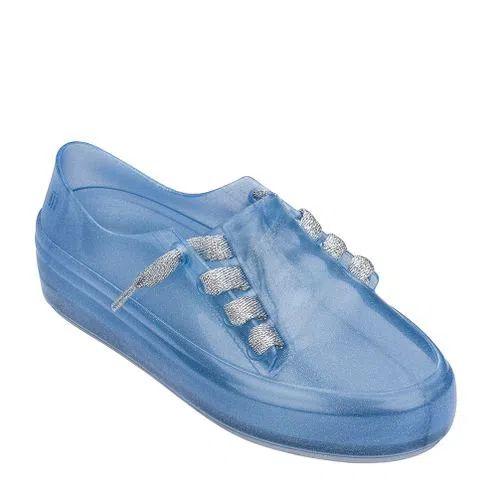 Melissa Mel Ulitsa Sneaker Azul Com Glitter e Prata