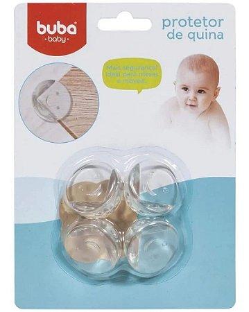 Protetor de Quina Buba Transparente Kit com 4 Unidades