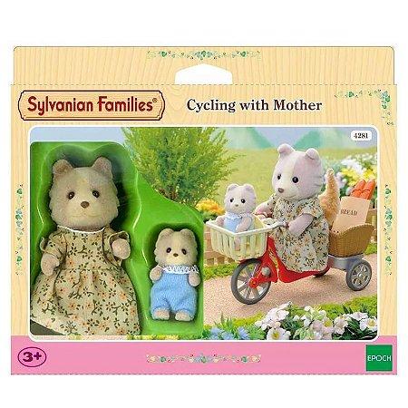 Sylvanian Families De Bicicleta com a Mamãe - Epoch Magia 4281