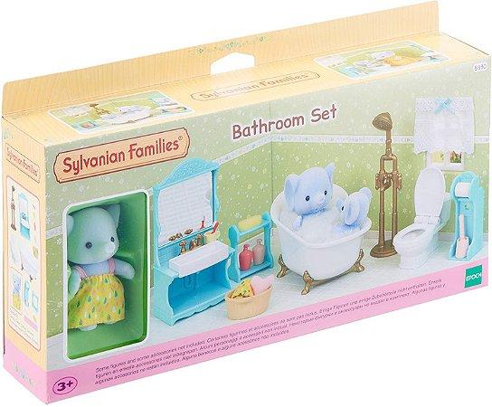 Sylvanian Families Conjunto Toalete e Banho com Irma Elefante - Epoch Magia 5380