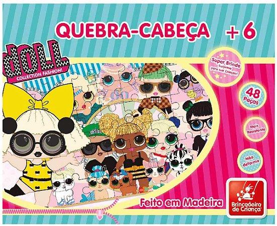 Quebra-Cabeça 48 Peças Doll Brincadeira de Criança