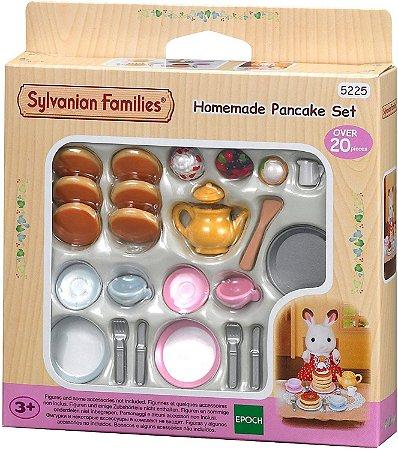 Sylvanian Families Família Conjunto Panqueca Caseira - Epoch Magia 5225