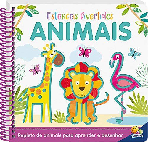 Livro Estênceis Divertidos: Animais