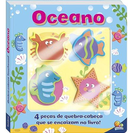 Livro Interativo Quebra-cabeça Touchwood: Oceano