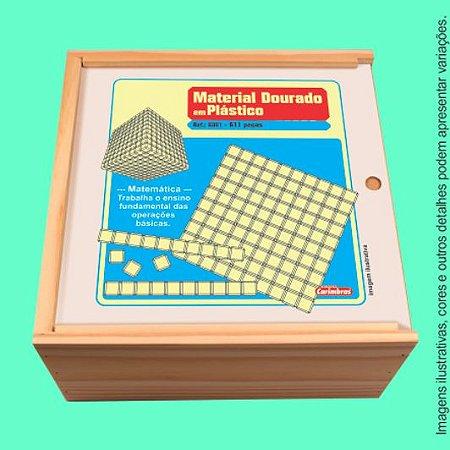 Material Dourado 611 Peças Carimbas - Brinquedo Educativo em Madeira